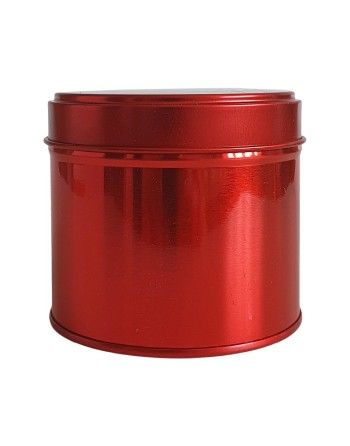 Candle Tin - 250 ml - red