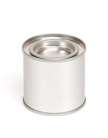 Candle Tin - 125 ml - silver