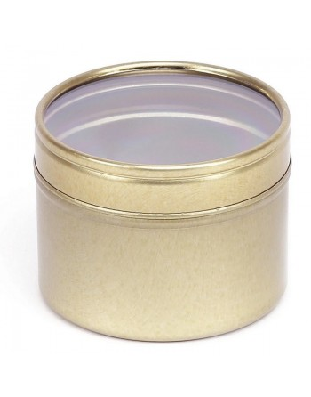 Candle Tin with window lid...